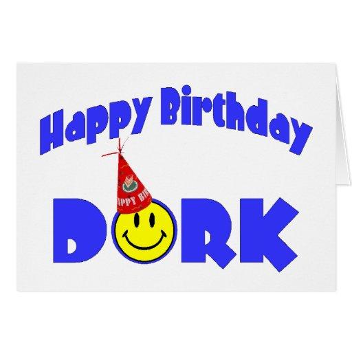 Gorra del fiesta del Dork del feliz cumpleaños Felicitación