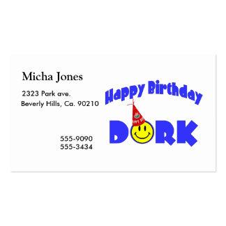 Gorra del fiesta del Dork del feliz cumpleaños Tarjetas De Visita