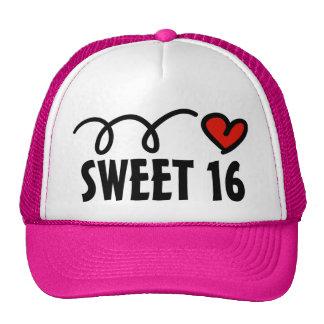Gorra del fiesta del dulce 16 para el décimosexto