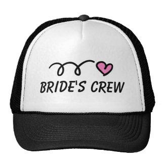 Gorra del fiesta del equipo de la novia para