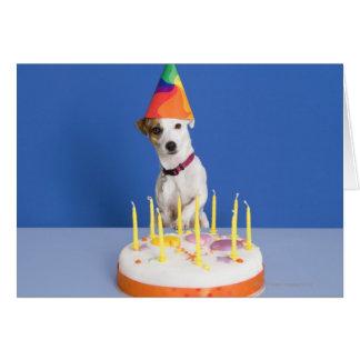 Gorra del fiesta del perro de Jack que lleva Russe Tarjetas