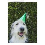 Gorra del fiesta del perro que lleva tarjetas
