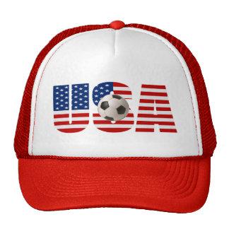 Gorra del fútbol de la BANDERA de los E.E.U.U.