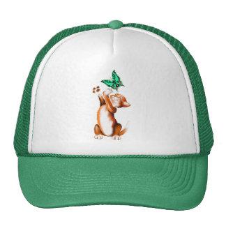 Gorra del gatito de la mariposa