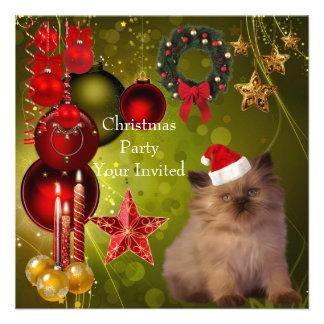 Gorra del gato de Navidad de la fiesta de Navidad