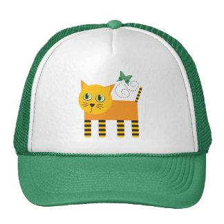 Gorra del gato y de la mariposa