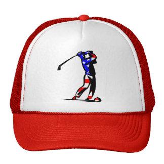 Gorra del golf de la bandera americana
