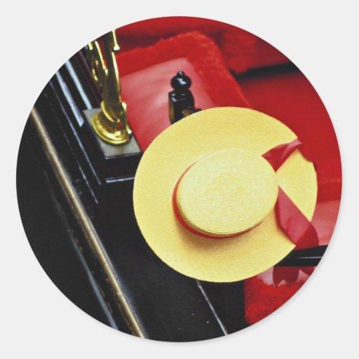 Gorra del gondolero, Venecia, Italia Pegatinas