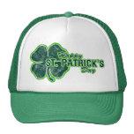 Gorra del Grunge del trébol del día de St Patrick