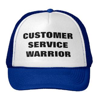 Gorra del guerrero del servicio de atención al cli