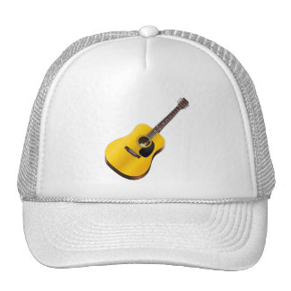 Gorra del guitarrista del jugador de la guitarra a