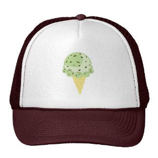 Gorra del helado del microprocesador de chocolate