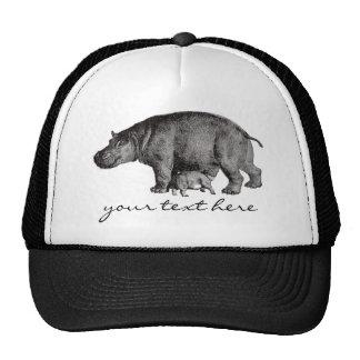 Gorra del hipopótamo del vintage