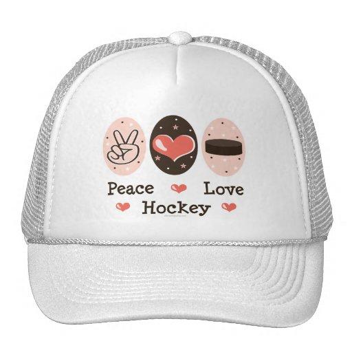 Gorra del hockey del amor de la paz
