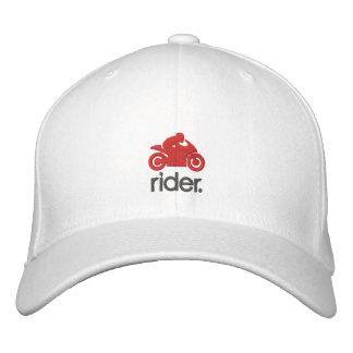 Gorra del jinete del cm (gry/rojo) gorros bordados