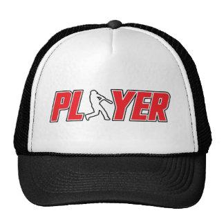 Gorra del jugador de béisbol