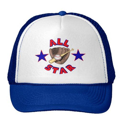 Gorra del jugador de béisbol de All Star