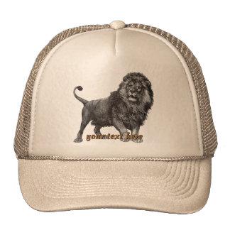 Gorra del león del vintage
