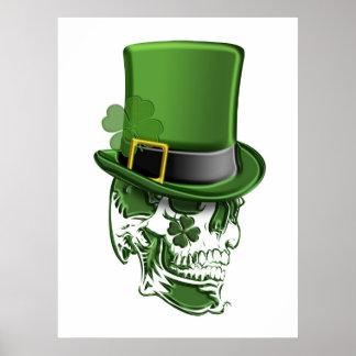 Gorra del Leprechaun del día de Patricks del santo Posters