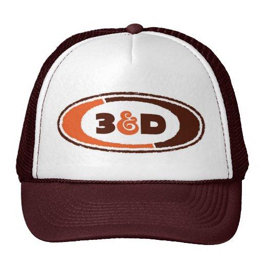 gorra del logotipo de 3d A&W