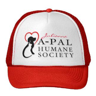 Gorra del logotipo de A-PAL - rojo con nombre de