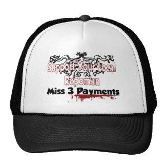 Gorra del logotipo de la Srta. 3 pagos
