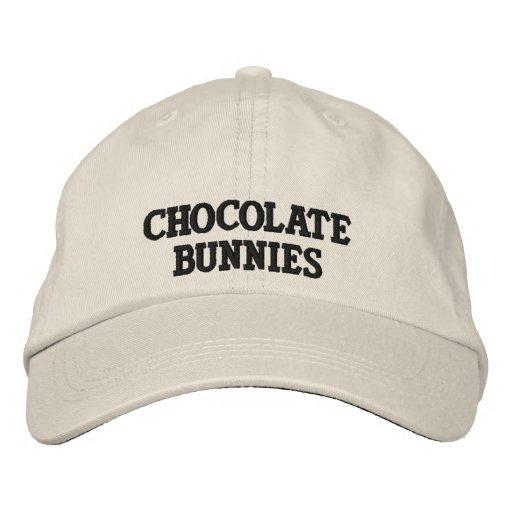 Gorra del logotipo de los conejitos del chocolate gorra de béisbol bordada