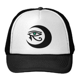 Gorra del logotipo de LunaSees negro ojo del jade