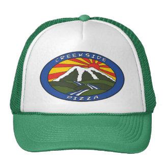 Gorra del logotipo del color verde