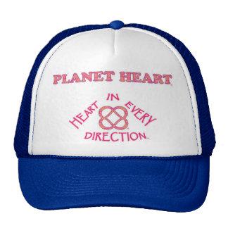 Gorra del logotipo del corazón del planeta