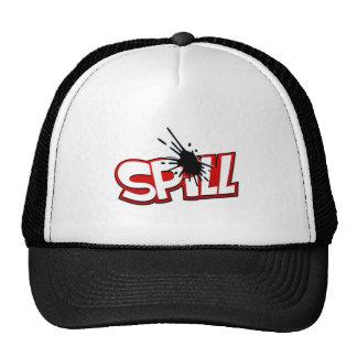 Gorra del logotipo del derramamiento