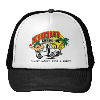 Gorra del logotipo del hielo del afeitado de Black