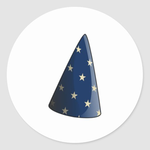 Gorra del mago pegatinas redondas