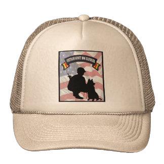 Gorra del manipulador de perro del explorador de V