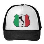 Gorra del mapa del escudo de Italia