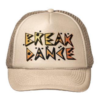 Gorra del marrón de la danza de rotura
