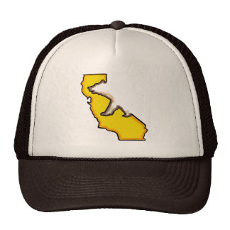 Gorra del marrón del símbolo de estado del oso de
