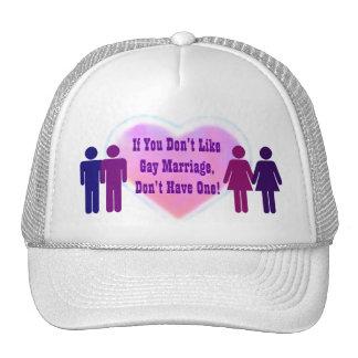 Gorra del matrimonio homosexual