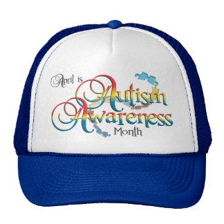 Gorra del mes de la conciencia del autismo