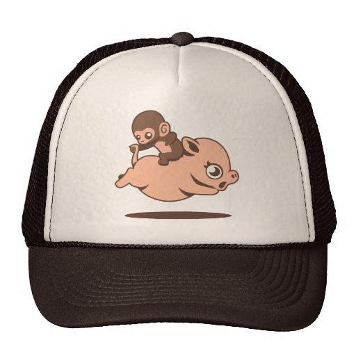 Gorra del mono del bebé (que va al revés en un cer