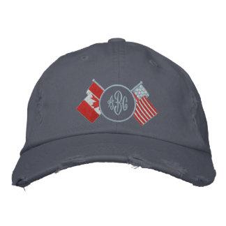 Gorra del monograma de Canadá - los E.E.U.U. Gorras Bordadas