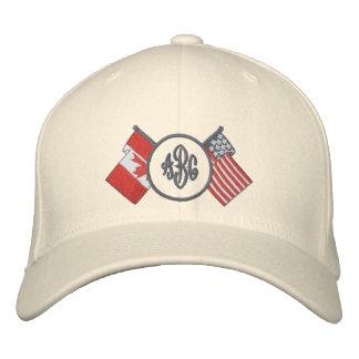 Gorra del monograma de Canadá - los E.E.U.U. Gorras De Béisbol Bordadas