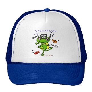 Gorra del muchacho de Froggie del buceo con