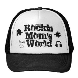 Gorra del mundo de las mamáes de Rockin