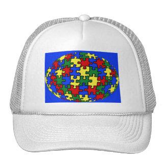 Gorra del mundo del rompecabezas