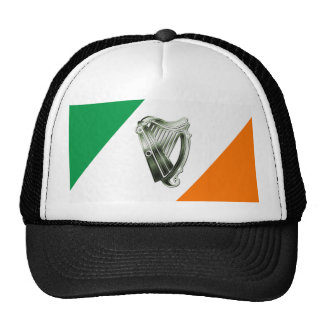 Gorra del naranja del verde de la arpa del verde