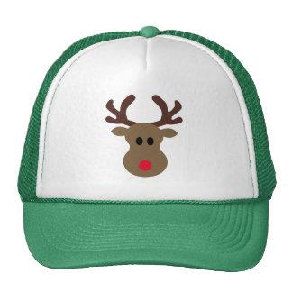 Gorra del navidad con el reno tonto de Rudolph