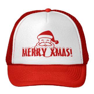 ¡Gorra del navidad con Papá Noel que dice feliz Na Gorra