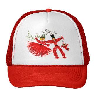Gorra del navidad de la familia del vintage