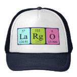 Gorra del nombre de la tabla largo periódica